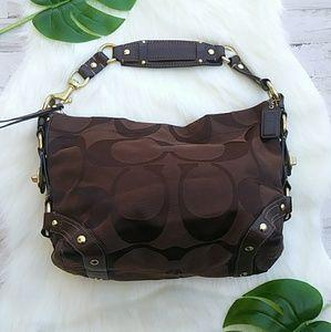 COACH Carly Signature Handbag. EUC